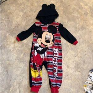 Mickey Mouse zipup pajamas